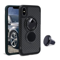 Cover Rokform Crystal Case Carbon per iPhone X + Vent Mount