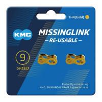 KMC 9R Ti-N Gold Falsamaglia per catene 9 velocità