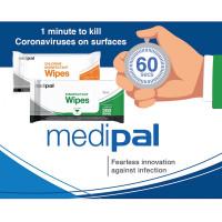 Medipal salviette disinfettanti Cloro Virucida efficace Corona Virus 1 Minuto