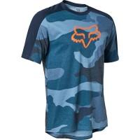 Fox Ranger DriRelease SS Jersey 2021 Maglia MTB e Casual Blu Camouflage
