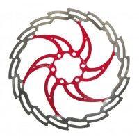 XLC Disco di Freno BR-X02, diam. 160/180/203 mm, argento/rosso